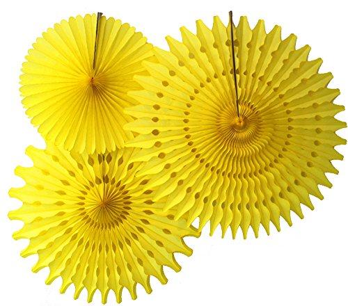 yellow paper fan decor - 5