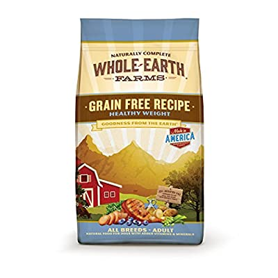 Whole Earth Farms Grain Free Healthy Weight Adult Dog Food, 25 lbs.