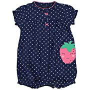 Carter's Baby Girls' Strawberry Snap up Romper 3 Months