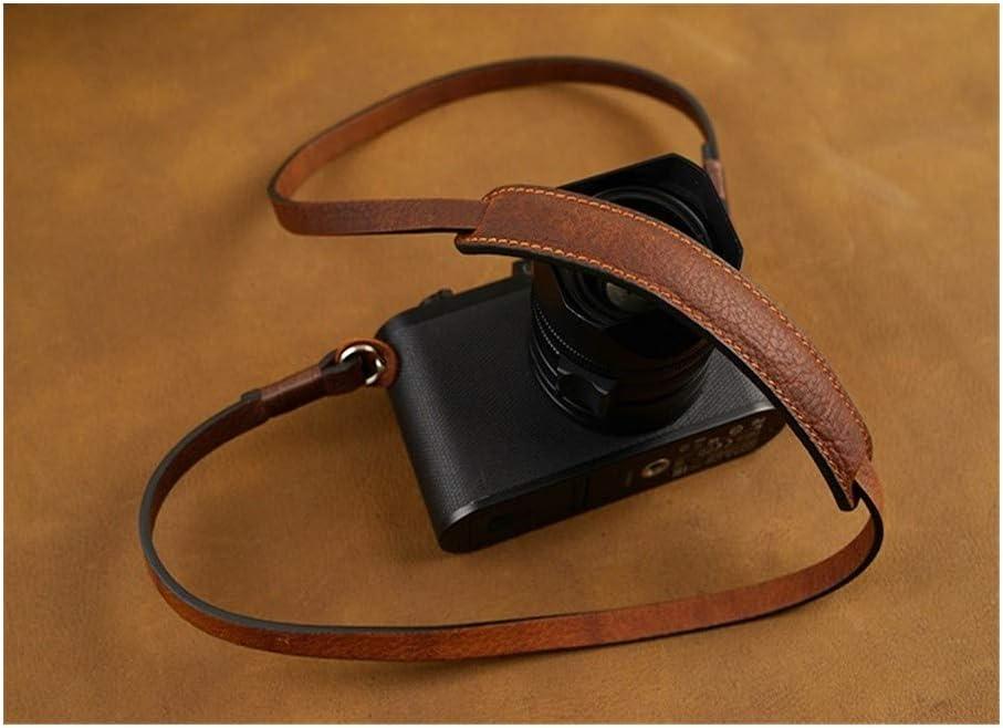 Camera Belt Accessory Handmade Leather Camera Strap Camera Shoulder Sling Belt for DSLR Digital Camera Durable Color : Black with red line