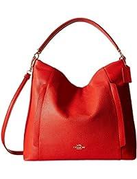 coach hobo handbags outlet g28b  Coach Scout Large Pebble Leather Hobo Shoulder Convertible Bag, Cardinal