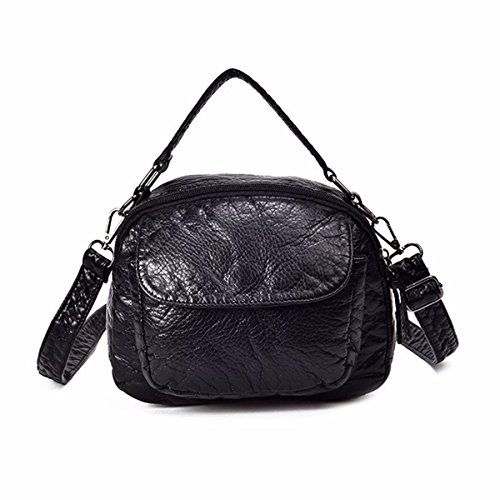 GTVERNH-La Bolsa Plaza Pequeña Bolsa Bolso Bolso De Hombro Bolso Joker Ladies' Bag,De Gules black