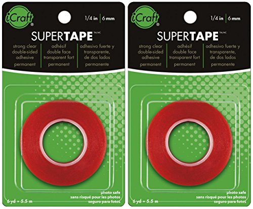 (2-PACK - Thermoweb Super Tape Double-Sided, 1/4-Inch-by-6-Yards)