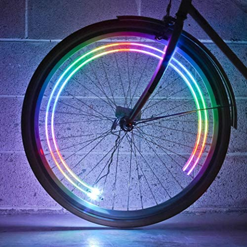 Monkey Light M204 M204R – 40 Lumen, 4 Ultrabright Full-Color LED Bike Wheel Tire Spoke Light Accessory – Waterproof Ultra-Durable