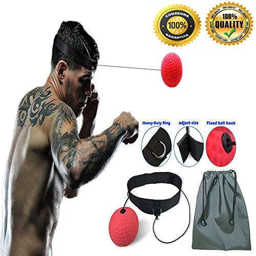 Boxing Reflex Ball Fight Fitness Exercise Reaction Equipment Improve Boxer Coordination Response Speed by Boxing Reflex Bal