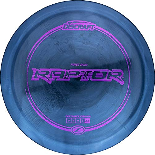 Discraft First Run Elite Z Raptor Distance Driver Golf Disc [Colors May Vary] - 170-172g