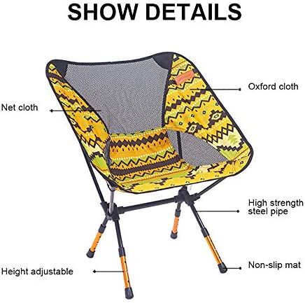 Outdoor Klapstoel, voorzitter Portable Tuin, 7075Made van Aluminium + 600D Polyester Fiber, Vissen Seat Camping verstelbare, inklapbare Furniture, Armchair,D