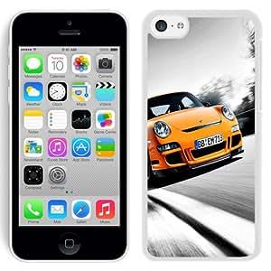 NEW Fashion Custom Designed Cover Case For iPhone 5C Orange Mini White Phone Case
