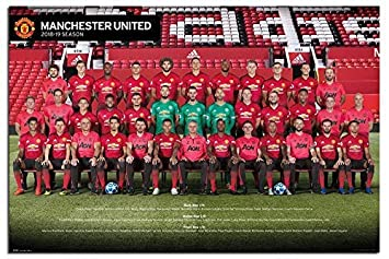 Manchester United Official Team 2018 2019 Season Poster Maxi