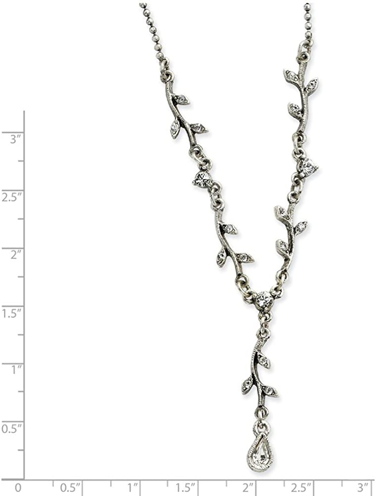 Diamond2Deal Silver-Tone Crystal Necklace for Women