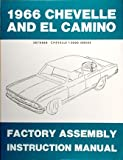 1966 Chevelle El Camino Assembly Manual Chevy Chevrolet (with Decal)