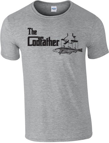 de en pesca S o camiseta Codfather x gris 360 L 2 de The Pesca Tama wv4qF40