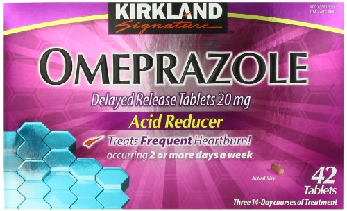 Kirkland Signature Omeprazole Delayed Release, Acid Reducer Tablets 20 mg, 42 Count ()