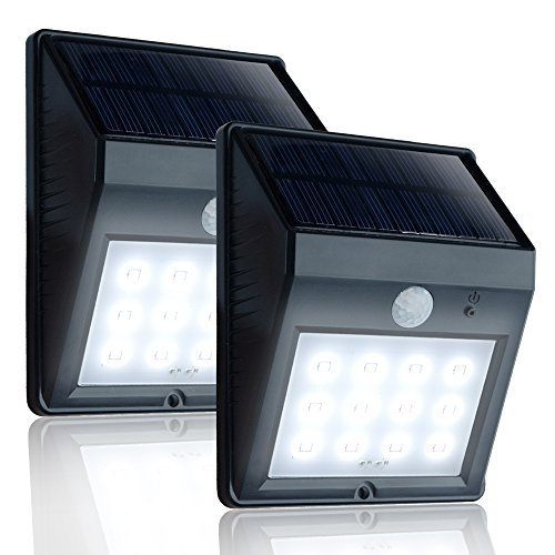 Cheap eToplighting [2-Pack] Solar Power Light, Outdoor Weatherproof 12 LED Security Light Motion Sensor Light for Patio Garden Pool Path APL1336