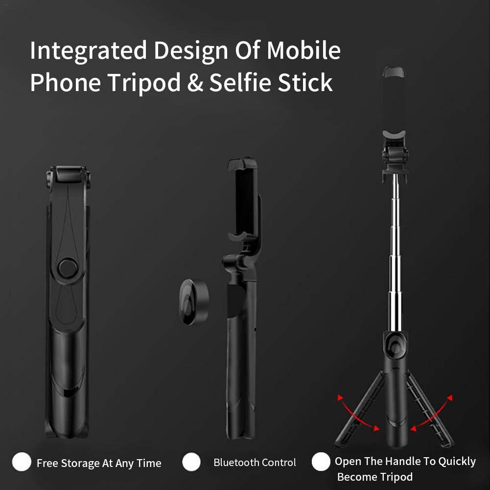 selfie b/âton tr/épied 3-en-1 extensible avec support t/él/éphone sans fil Bluetooth obturateur /à distance sans fil professionnel pour tik tok diffusion en direct