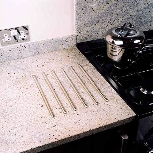 45cm 6/Unit/és Acier Inoxydable Unika Autocollantes Baguettes Travail de Protection