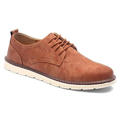 816e096b1e9dc ... Zapatos Hombre Clásico Cordones Sintético - Casual Cuero Brogues  Negocios Oxford Formal Derby Oficina Trabajo Caminar Antideslizante  Confort  Amazon.es  ...