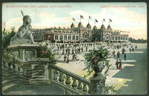 Manufactures & Liberal Arts Building Jamestown Exposition postcard 1907 from The Jumping Frog