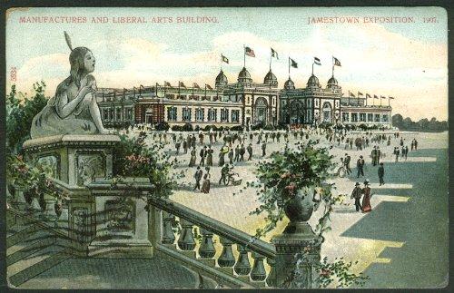 Manufactures & Liberal Arts Building Jamestown Exposition postcard 1907