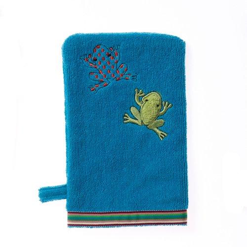 Breganwood Organics Bath Mitt, Silly Frog Rainforest Collection (Terry Frog)
