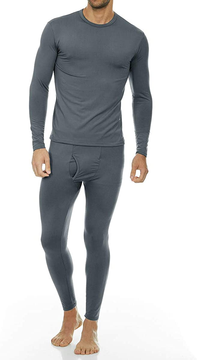 Thermajohn Men's Ultra Soft Thermal Underwear Long Johns Set with Fleece Lined at  Men's Clothing store