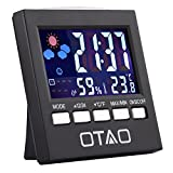 Otao Humidity Meter Color Digital LCD Screen Multifunctional...