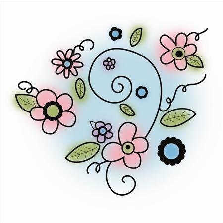 (Imaginisce Perfectly Posh Flowers Stamp)