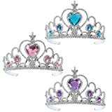 Gift Boutique Princess Tiara and Wand Set of 3, Girl's Party Favors