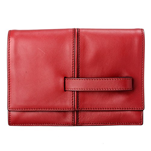 Valentino Women's Clutch Red 100 Handbag Bag Garavani Leather axzwa