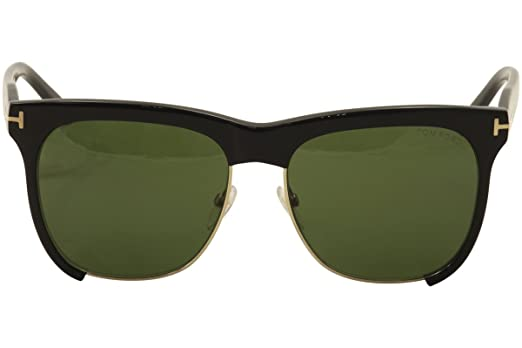 9f1a61e47d Tom Ford Thea FT0366 Sunglasses-01G Shiny Black (Brown Mirror Lens)-57mm at  Amazon Men s Clothing store