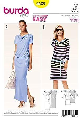 Burda B6639 Schnittmuster Kleid Papier weiß 19 x 13 x 1 cm: Amazon ...