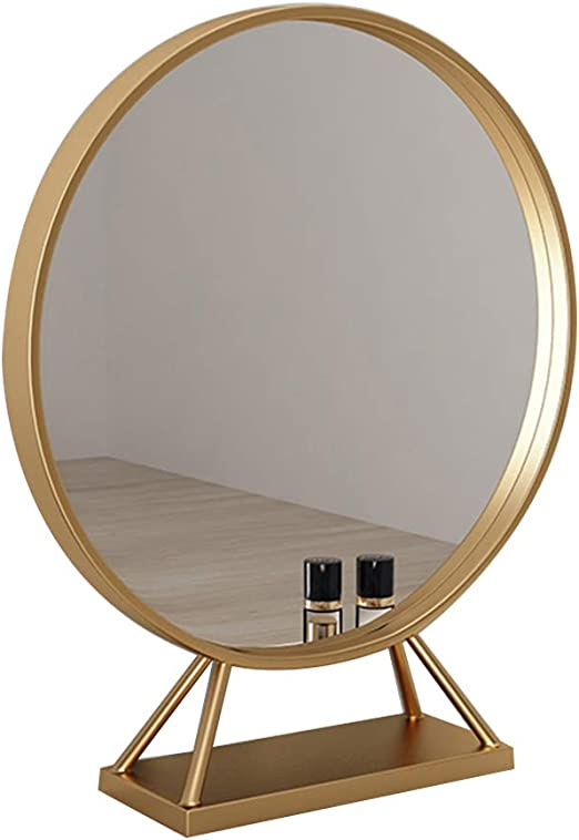 24 In Framed Round Mirror Metallic Gold Fog Free Bathroom Bedroom Vanity Dresser Bathroom Mirrors Edemia Home Garden