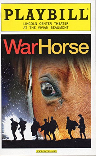 WAR HORSE Playbill for the Original Broadway Production - Lincoln Center at the Vivian Beaumont Theater - October 2011