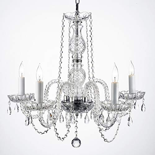 - New! AUTHENTIC ALL CRYSTAL CHANDELIERS H25