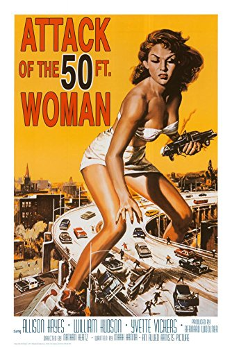 Attack of the 50 ft Woman Poster Print, Print