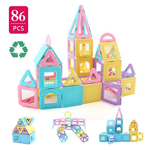 Children Hub 86pcs Magnetic Building Blocks Set: With