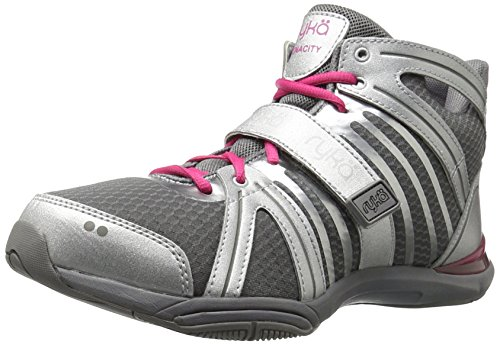Ryka Women's Tenacity Cross-Trainer Shoe, Silver, 7.5 M US