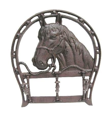 Perchero de pared de hierro fundido herradura caballo ...