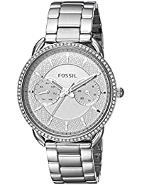 Fossil Women's 'Tailor' Quartz Stainless Steel Casual Watch, Color:Silver-Toned (Model: ES4262)