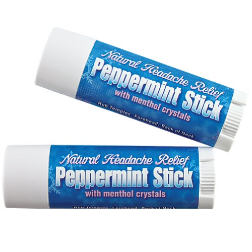 (Peppermint Sticks Menthol Crystals Rosemary Headache Relief (Set of 2))