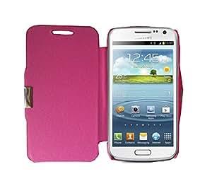Funda de Piel Sintetica Rosa Libro Tapa Flip Cover Cierre Iman Para Samsung Galaxy Core i8260