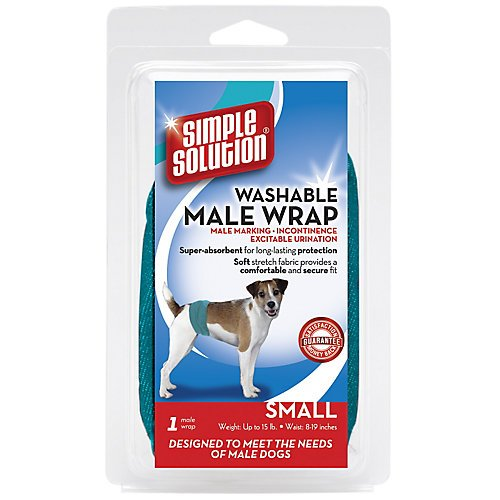 Simple Solution Washable Male Wrap Dog Diaper - Large
