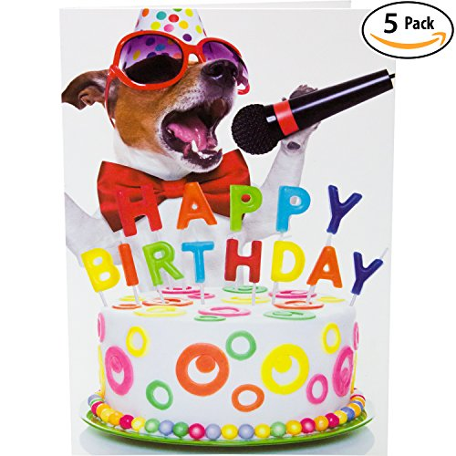 Birthday card boy amazon this pup knows how to get down party premium greeting card envelopes value set great funny gift for kids boys bookmarktalkfo Image collections