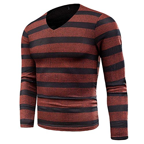 POHOK Men's Autumn Winter Sweater Pullover Slim Jumper