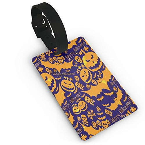 Luggage Tags Skull Pumpkin Airplane Name Tag Holder Labels