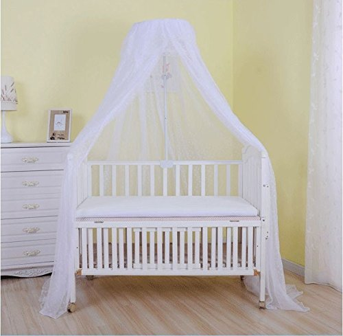 Baby Mosquito Net Baby Toddler Bed Crib Dome Canopy Netting (white)