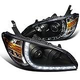 Spec-D Tuning 2LHP-CV04JM-8-RS Honda Civic Ex Dx R8 Style Black Halo Projector Headlights