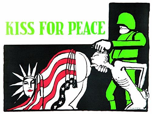 PROPAGANDA WAR VIETNAM ANTI AMERICAN Ungerer KISS PEACE 18x24 INCH ART POSTER PRINT PICTURE LV7126 (Anti Propaganda War Posters)