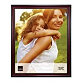 Kiera Grace Lucy Picture Frame with Plexiglas, 16 by 20-Inch, Dark Brown with Gold Beading