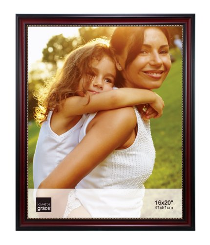 16x20 Framed Photo (Kiera Grace Lucy Picture Frame, 16 by 20-Inch, Dark Brown with Gold Beading)